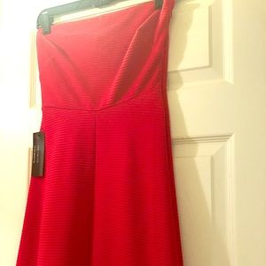 NWT the Limited red strapless dress
